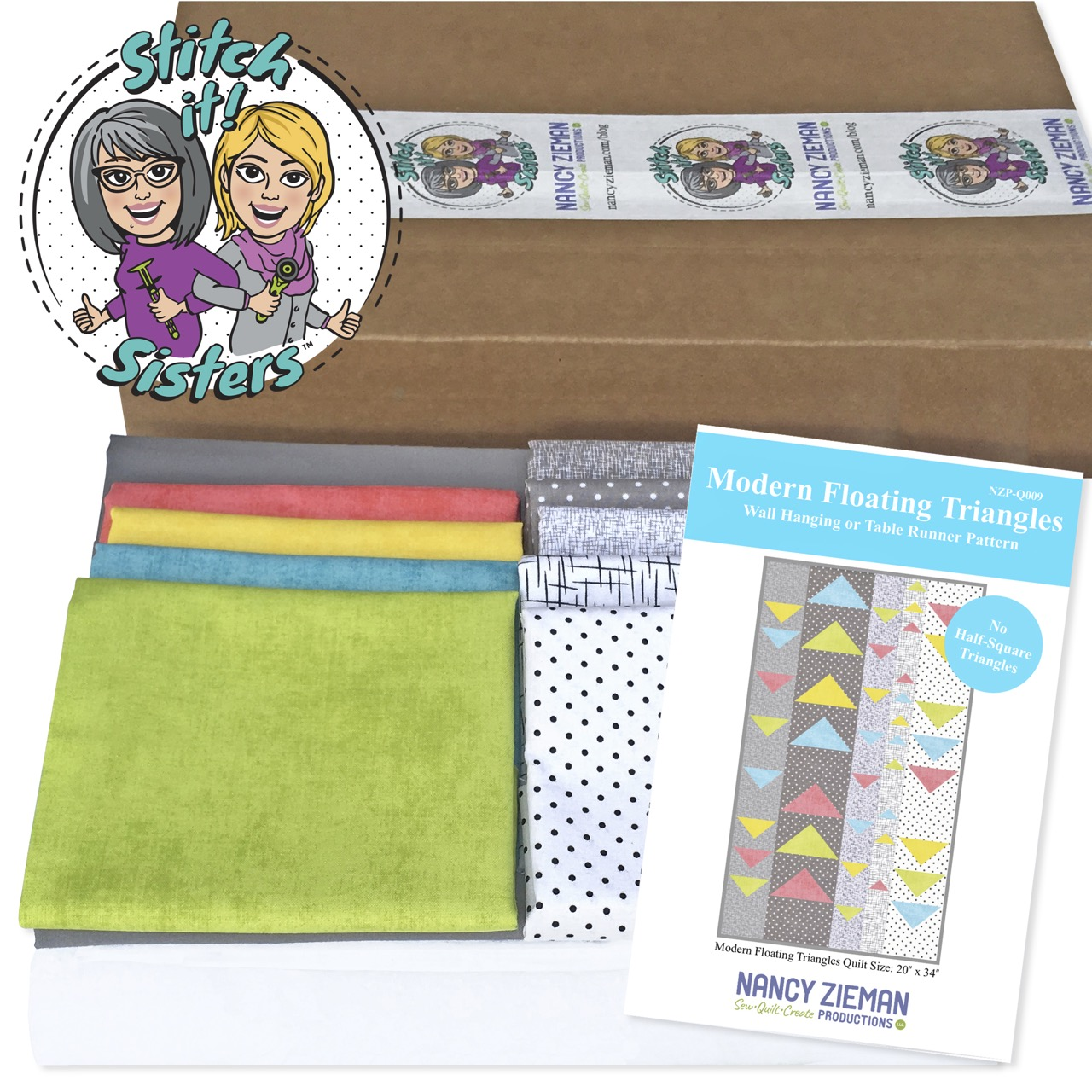 SISQ009 Modern Floating Triangles Bundle Box as seen on Stitch it! Sisters