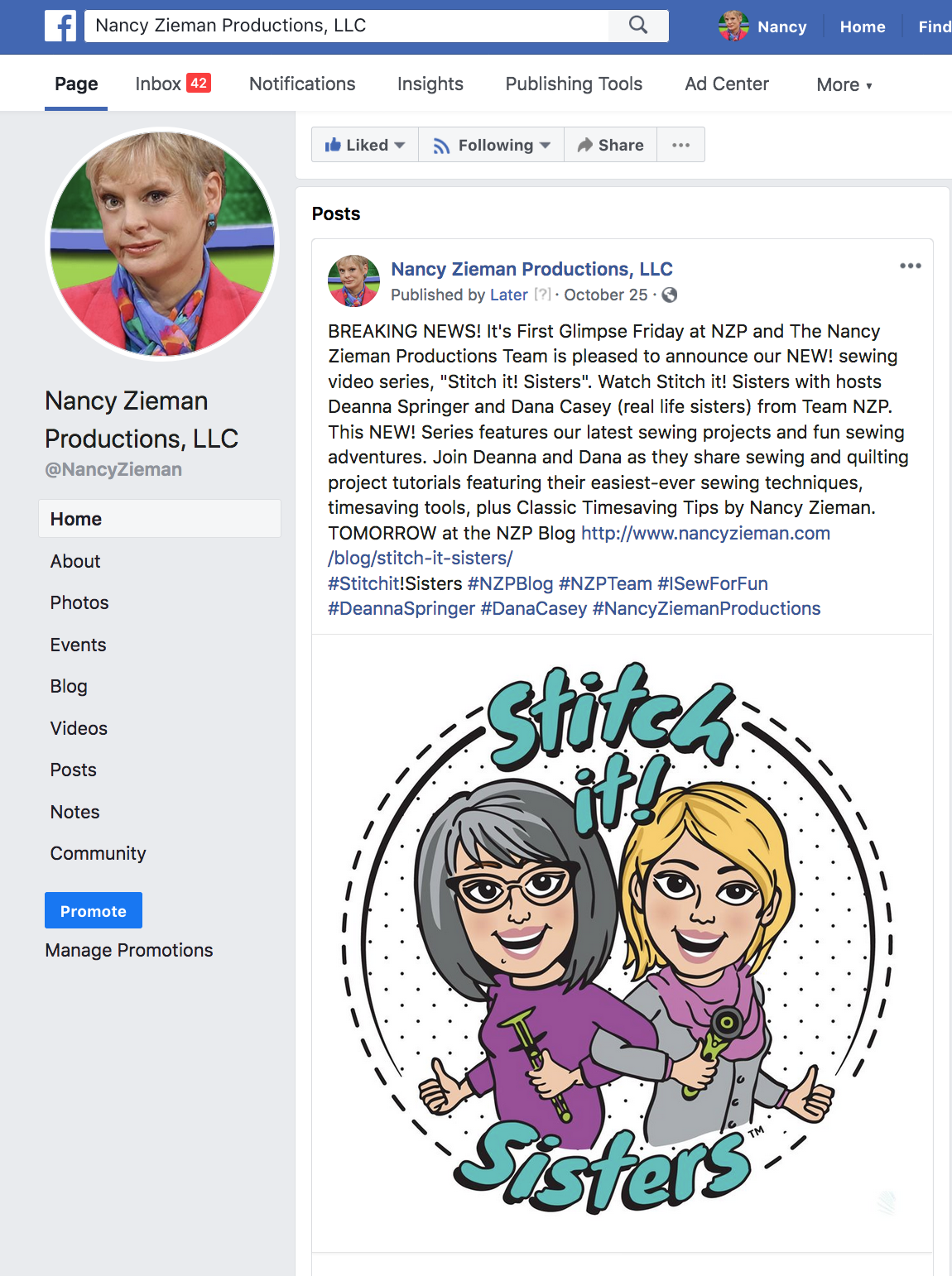 Nancy Zieman Facebook Page