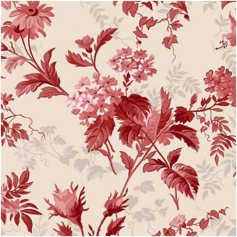 Red Elegance Fabric by Nancy Zieman Productions Available at ShopNZP.com