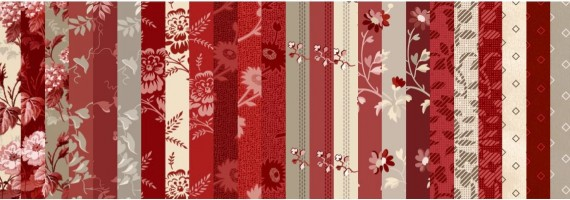 Red Elegance Fabric by Nancy Zieman Productions for Riley Blake Designs
