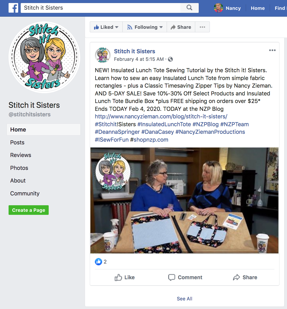 Follow The Stitch it! Sisters on Facebook