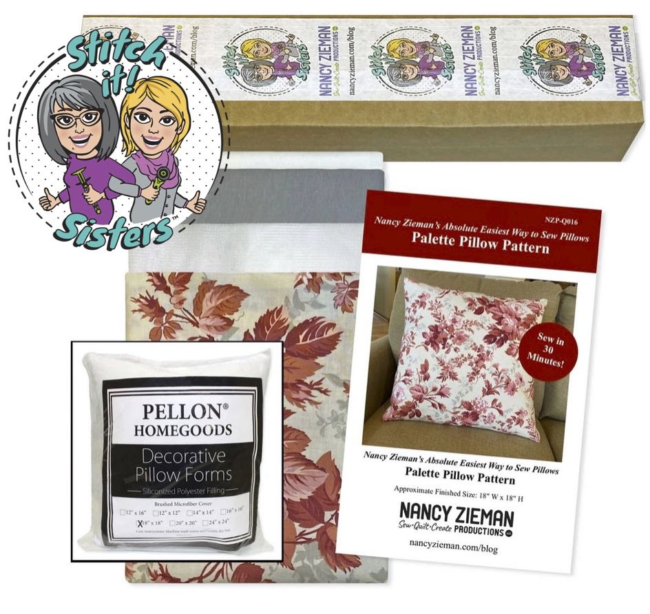 Nancy Zieman's Absolute Easiest Way to Sew Pillows on Stitch it! Sisters Program 111