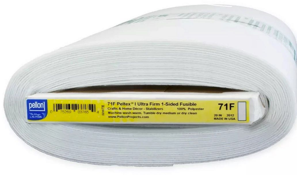 Pellon Peltex One Sided Fusible Ultra Firm Stabilizer