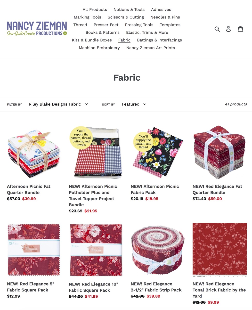 Shop Quilting Fabric Available at shopnzp.com