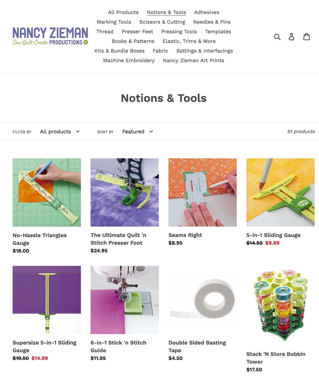 Shop Notions and Tools at shopnzp.com
