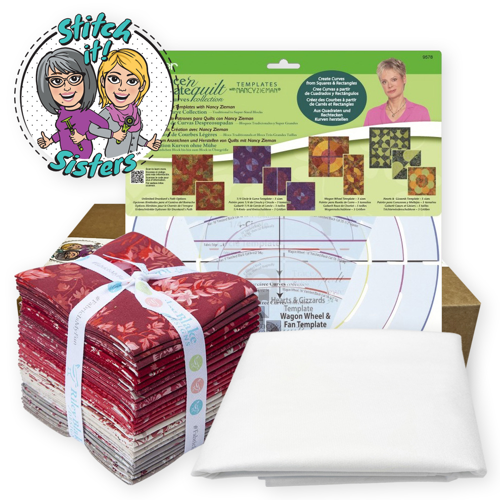 Carefree Curves in Quilts Bundle Box with Sof-Shape Interfacing available at ShopNZP.com