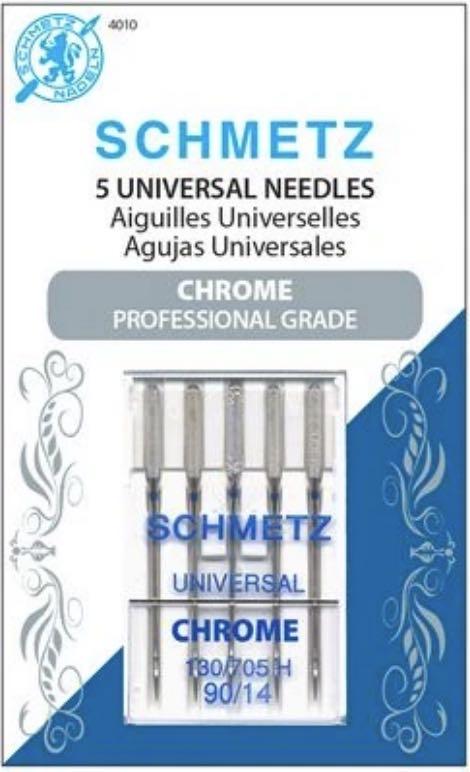 Schmetz Chrome Universal Needles Size 90:14 available at Nancy Zieman Productions at ShopNZP.com
