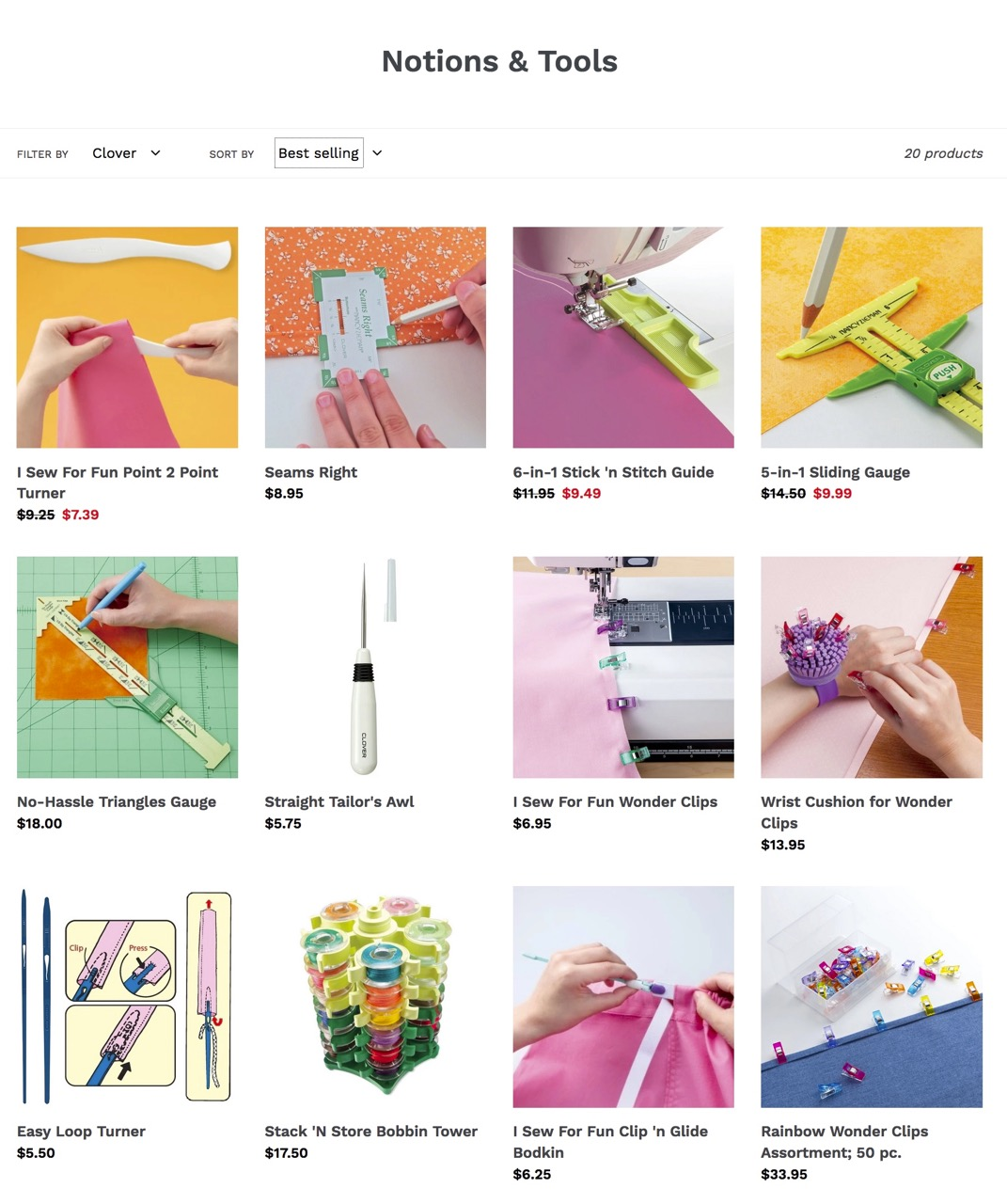 Shop Clover Notions and Shop Clover Sewing Tools at ShopNZP.com
