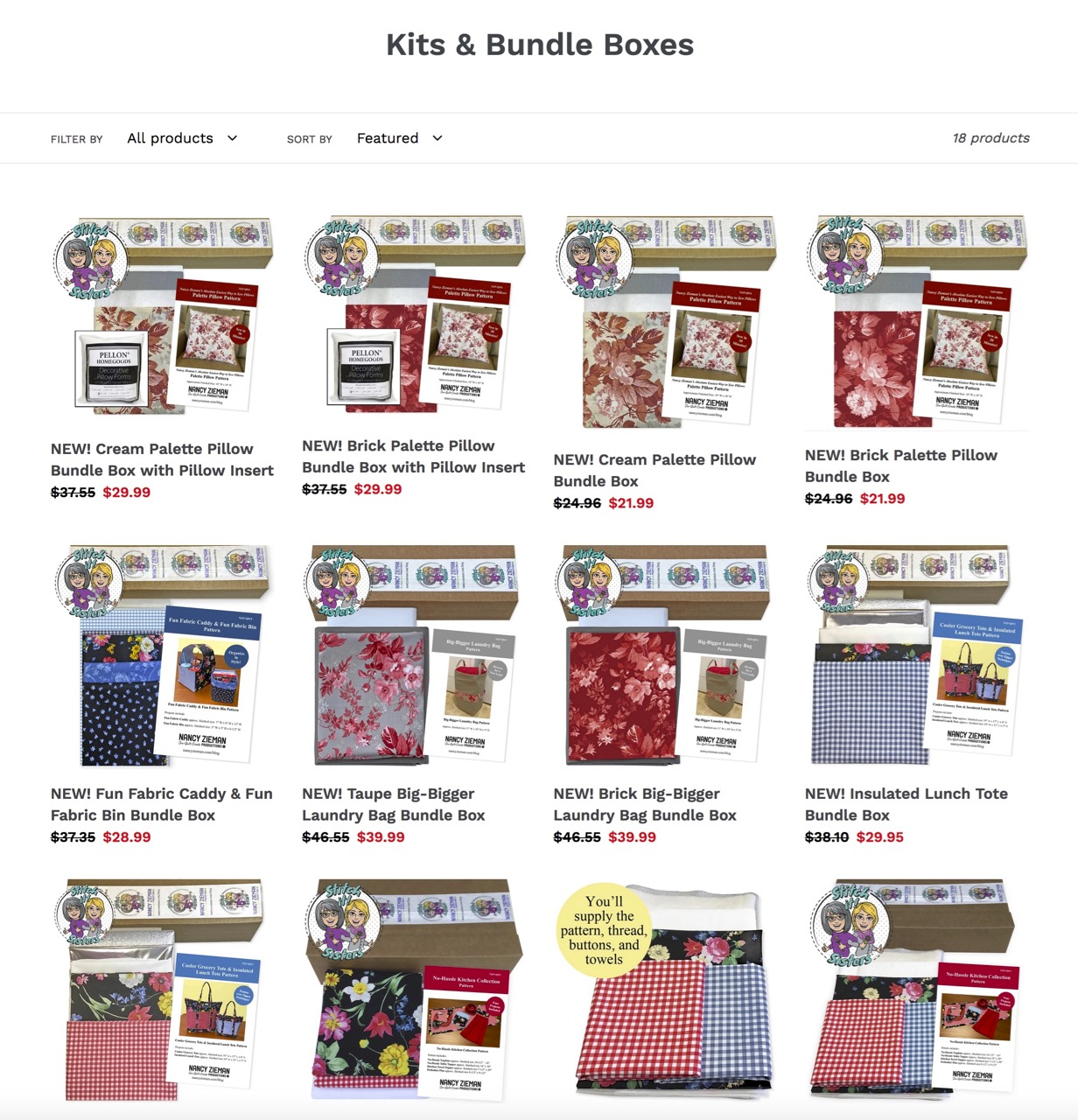 Shop Sewing Kits and Sewing Project Bundle Boxes at available ShopNZP.com