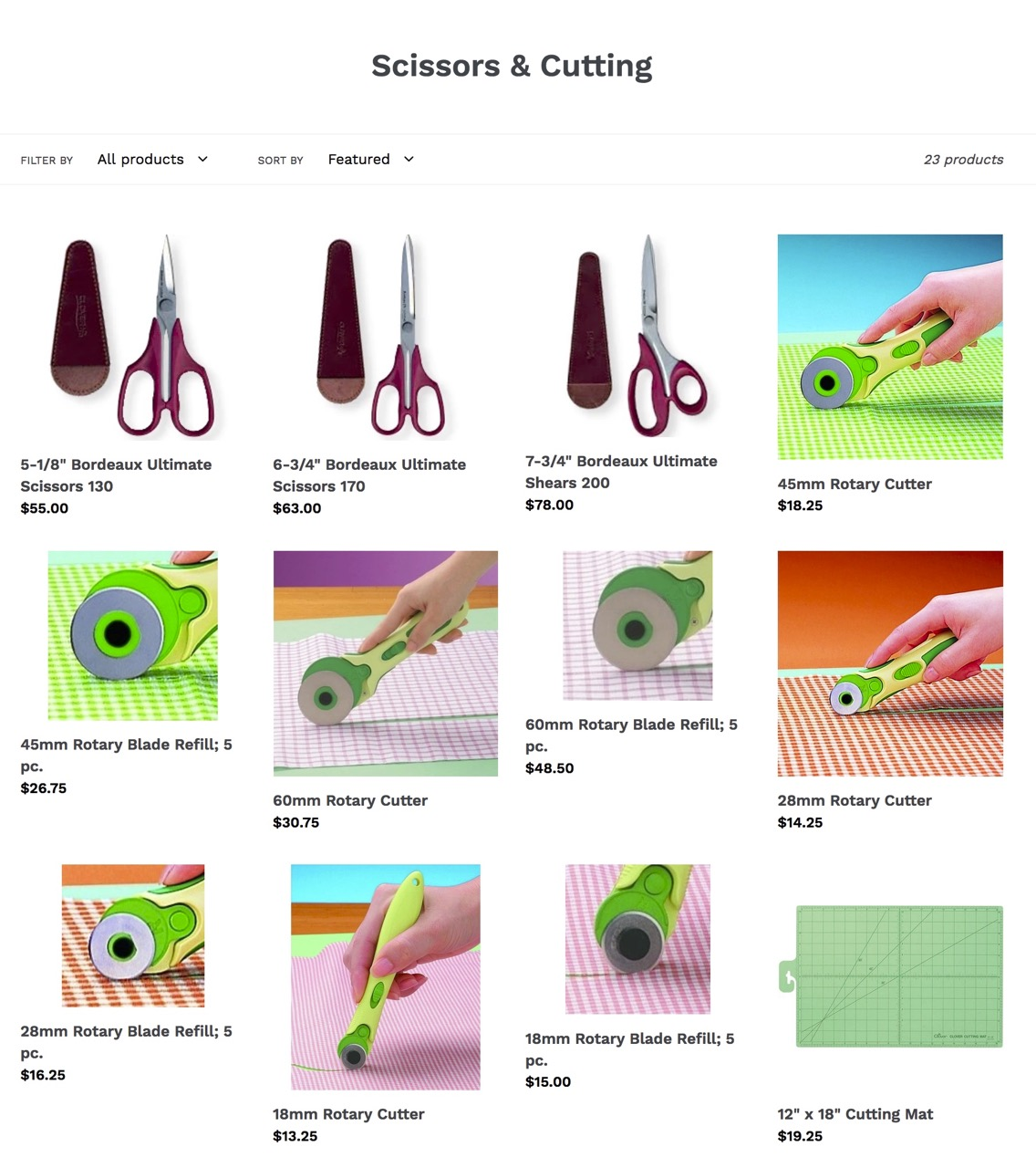 Shop Sewing Scissors and Rotary Cutting Supplies at ShopNZP.com