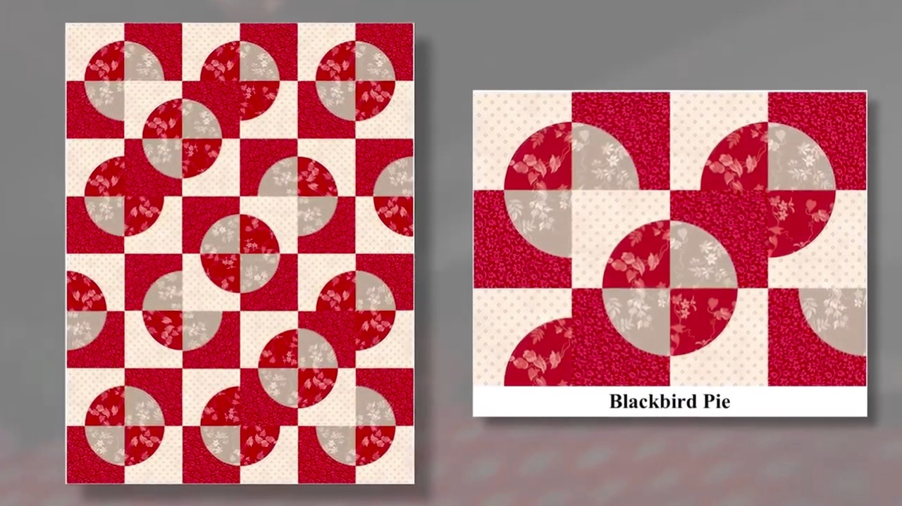 Stitch it! Sisters Carefree Curves in Quilts Program 112 Blackbird Pie Quilt