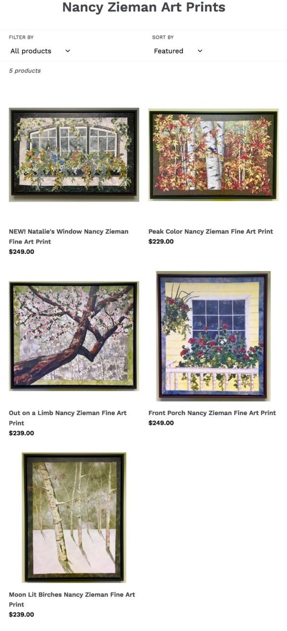 Nancy Zieman Landscape Quilts Fine Art Prints available at ShopNZP.com