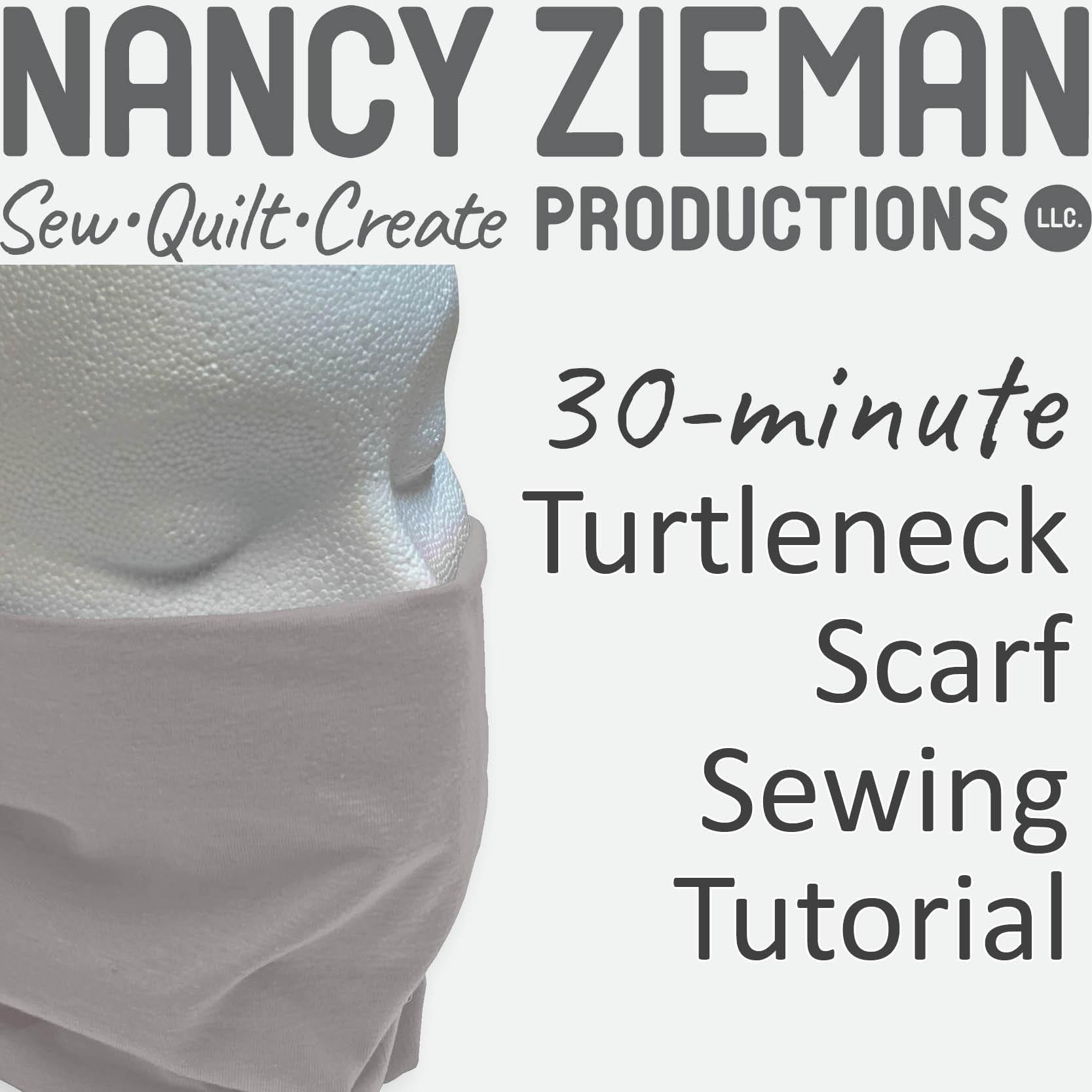 Turtleneck Scarf Sewing Tutorial by Nancy Zieman Productions at the NZP Blog at nancyzieman.com/blog