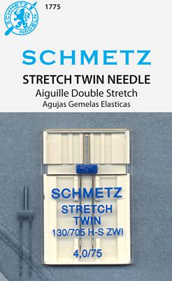Schmetz Stretch Twin Needle 4.0, Size 75 available at ShopNZP.com