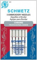 Schmetz Chrome Embroidery Needles Size 90/14 available at ShopNZP.com