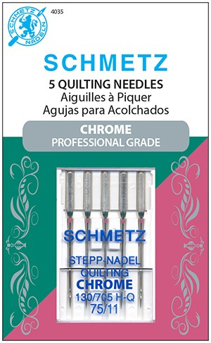 Schmetz Size 75/11 Chrome Quilting Needles available at ShopNZP.com