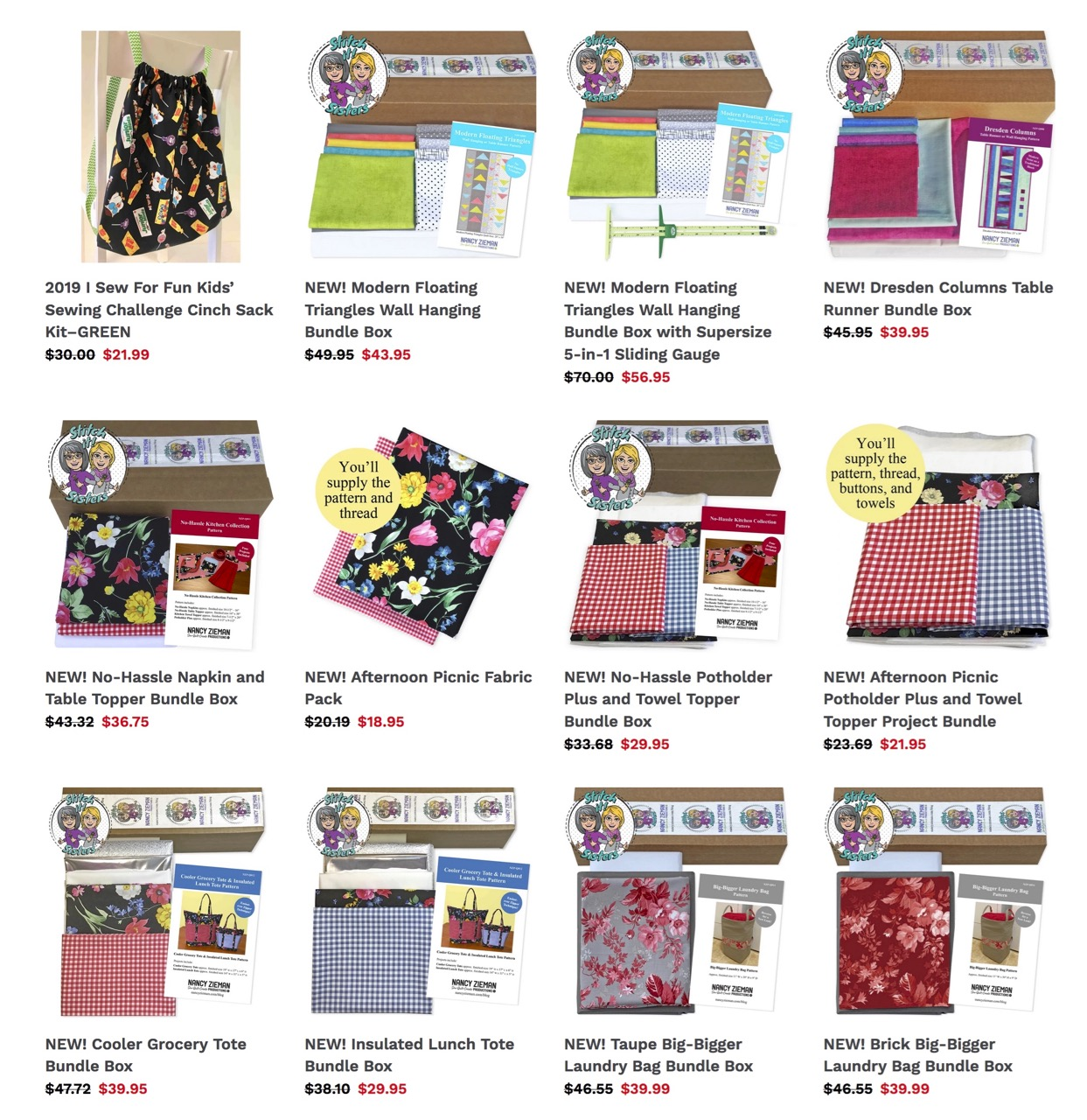 Sewing Kits and Quilting Bundle Boxes Available at ShopNZP.com