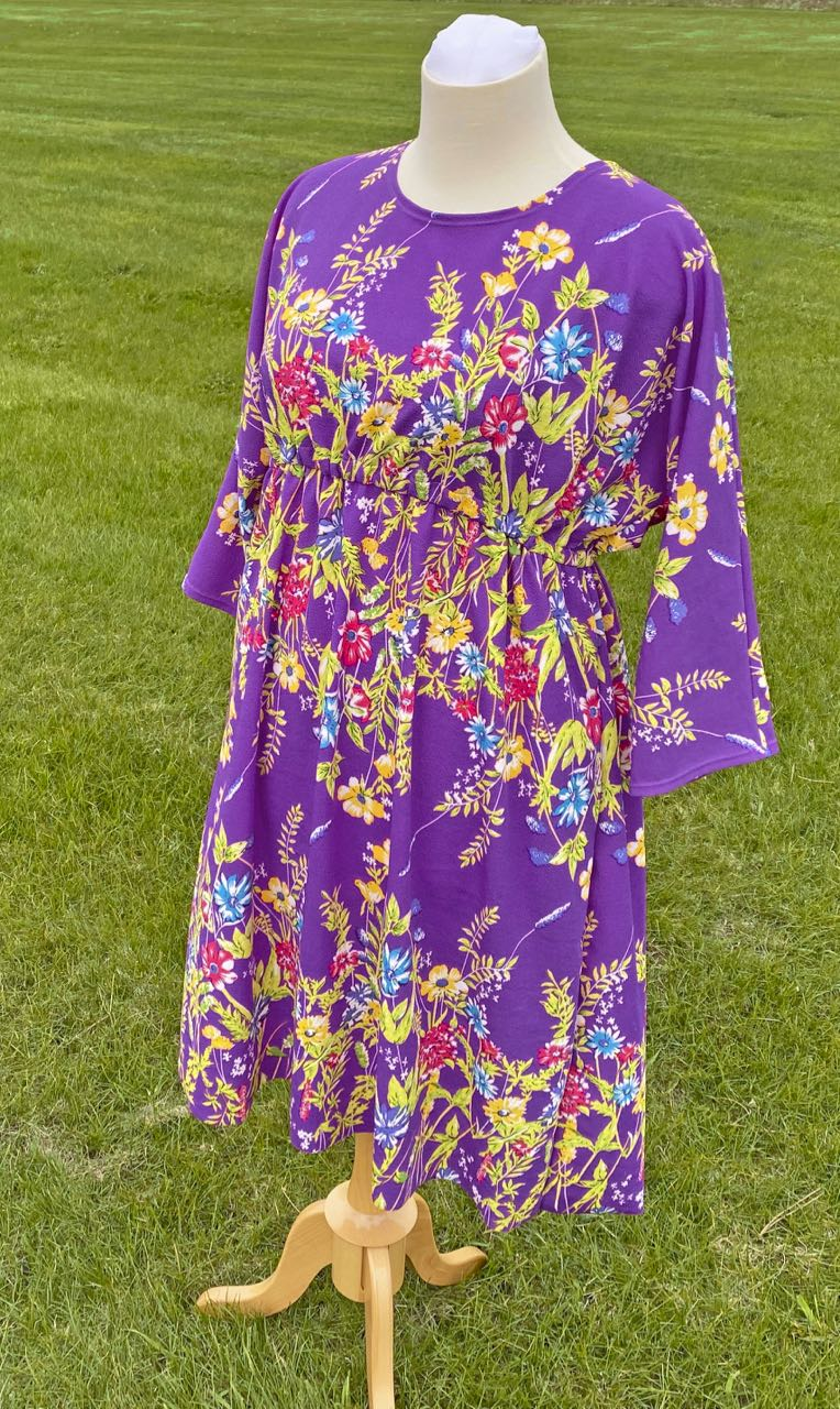 Sew a Quick Spring Dress with Nancy Zieman's McCall's M7353 Dress Pattern and NEW! Crepe Knits available at ShopNZP.com