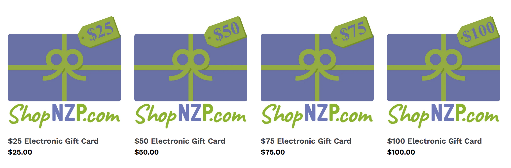 Nancy Zieman Productions Gift Cards available at ShopNZP.com