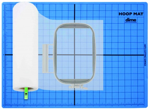 Silicone Non-Slip Hoop Mat for Successful Machine Embroidery Hooping available at ShopNZP.com