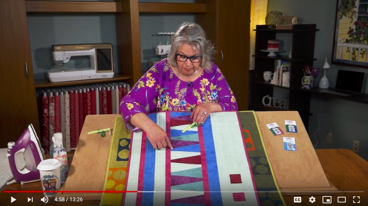 Straight Line Machine Quilting with the Ultimate Quilt 'n Stitch Presser Foot as seen on Stitch it! Sisters Program 116 at the Nancy Zieman Blog