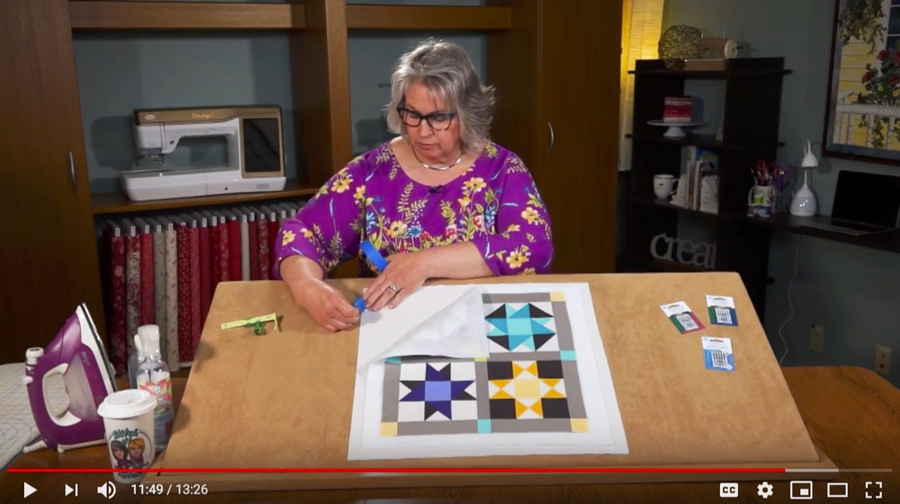 Straight Line Machine Quilting with The Ultimate Quit 'n Stitch Presser Foot as seen on Stitch it! Sisters Program 116 at the Nancy Zieman Productions Blog