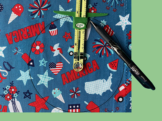 Patriotic Table Topper Tutorial at Nancy Zieman Productions Blog