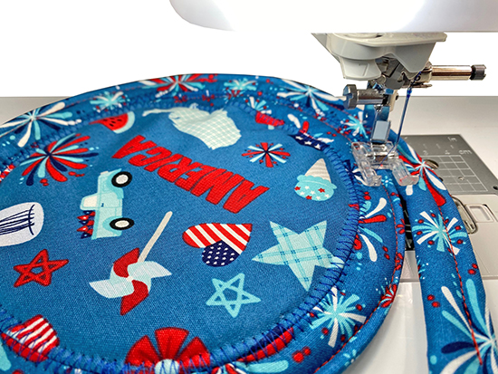 Patriotic Table Topper Sewing Tutorial at Nancy Zieman Productions Blog