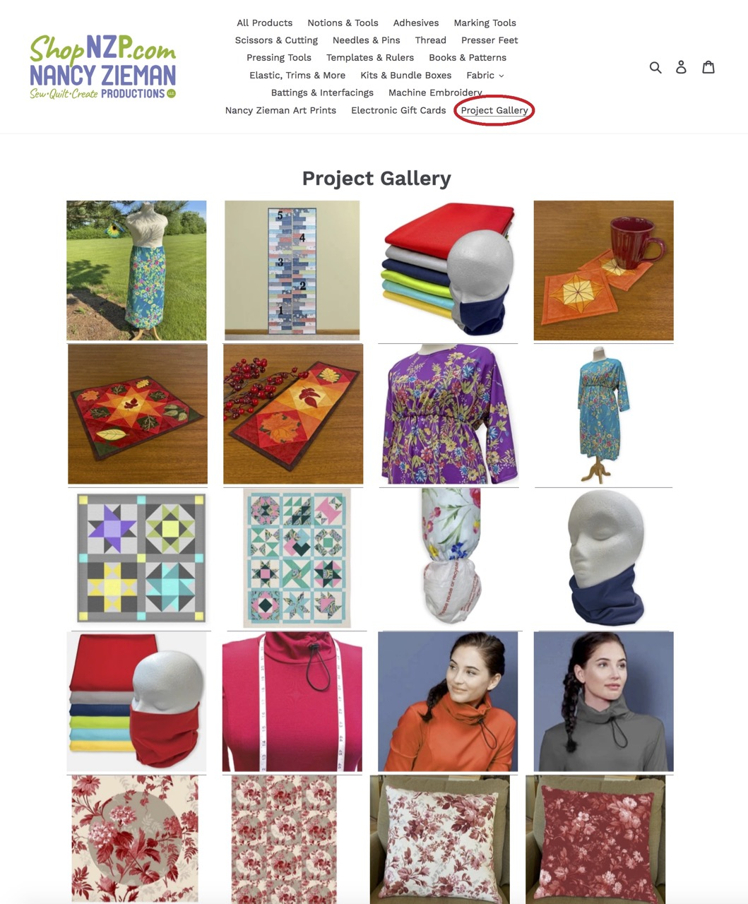 Find Sewing Project and Quilting Project Inspiration in the Project Gallery at ShopNZP.com