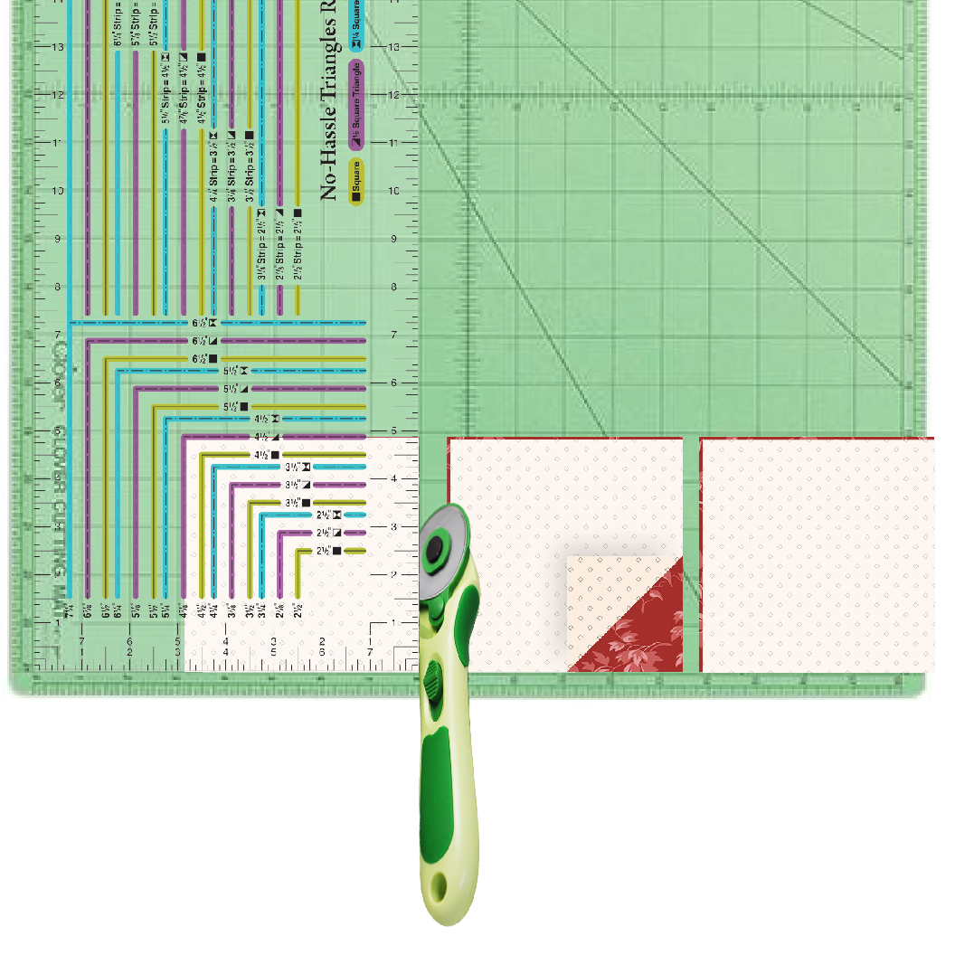 NEW! No-Hassle Triangles Ruler by Nancy Zieman Productions Available at ShopNZP.com