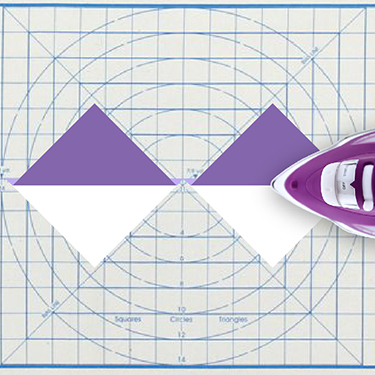 No Hassle Triangles Ruler Purple 10