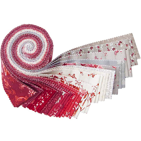 RP 9070 40  02 Red Elegance 2 1 2 in Fabric Strip Pack