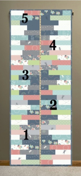 S!S117 Growth Chart Quilted Wall Hanging Sewing Tutorial by The Stitch it! Sisters at the Nancy Zieman Productions Blog