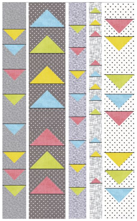 S!S 101 Modern Floating Triangles Wall or Hanging Table Runner Sewing Tutorial