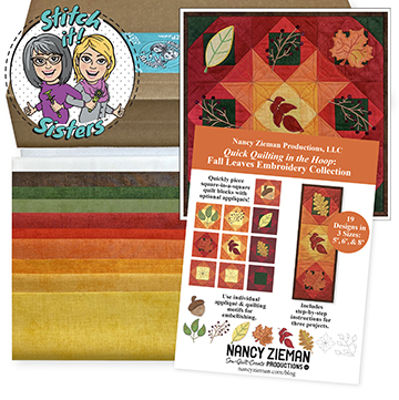 Stitch it! Sisters Quick Quilting in the Hoop Fall Leaves Wall Hanging Bundle Box at ShopNZP.com