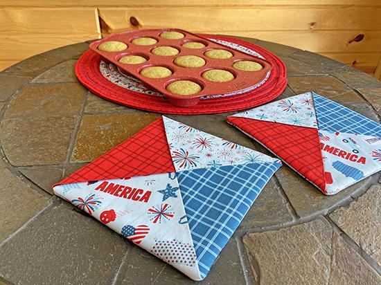 Patriotic Folded Hot Pad Sewing Tutorial at Nancy Zieman Productions Blog
