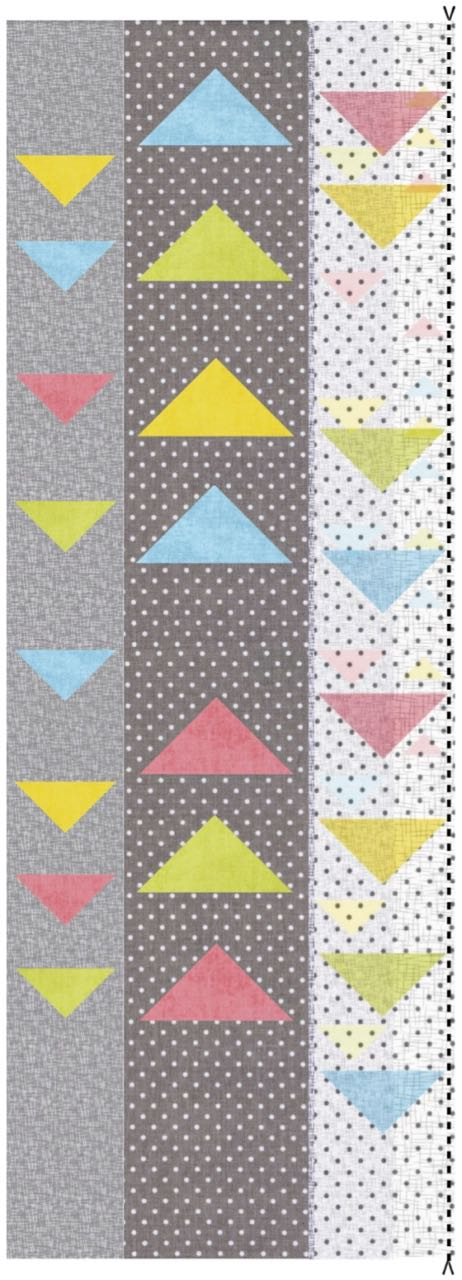 Modern Floating Triangles Wall Hanging Table Runner Tutorial
