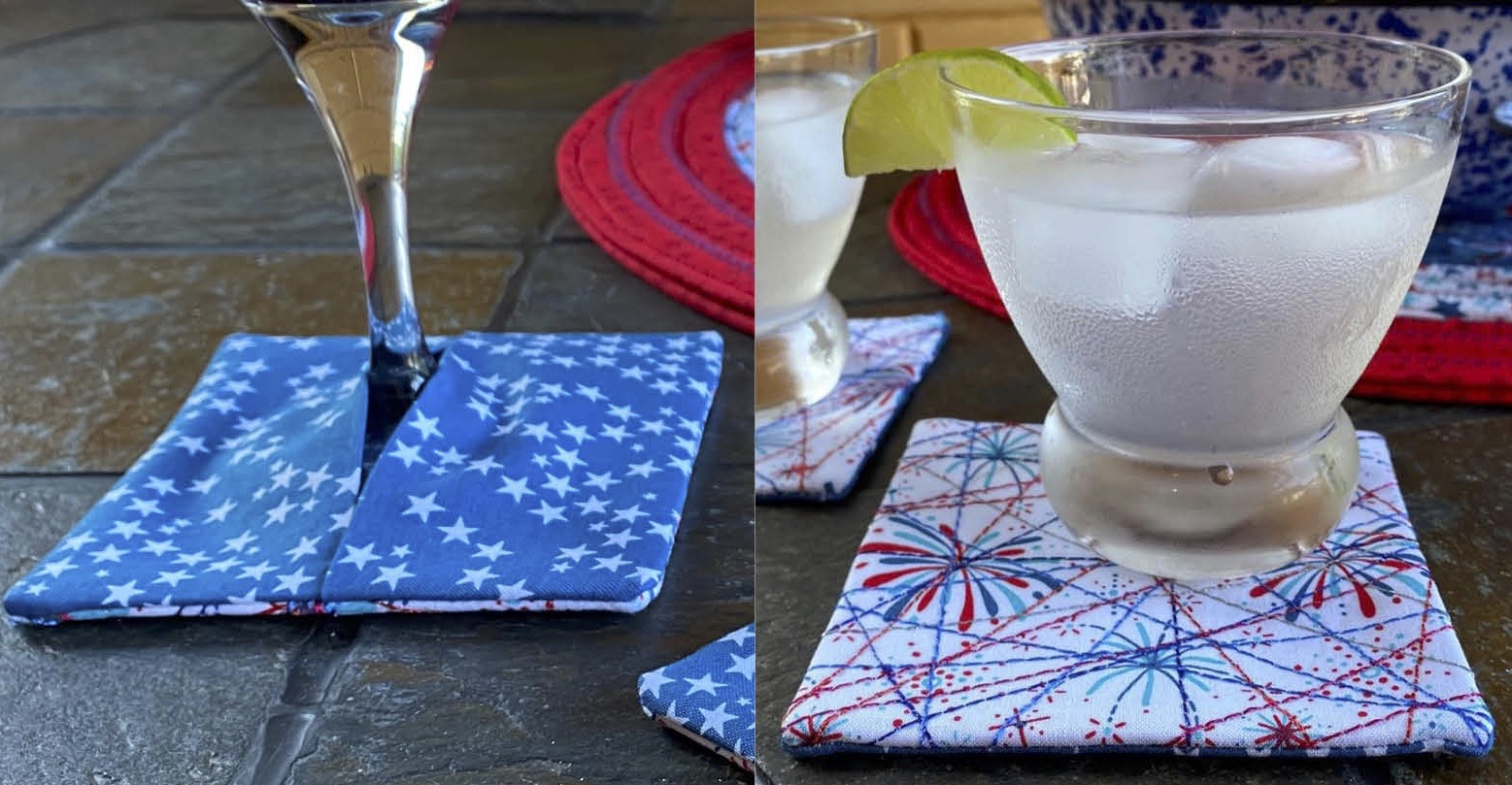 One-Seam Palette Coaster Sewing Tutorial at The Nancy Zieman Productions Blog