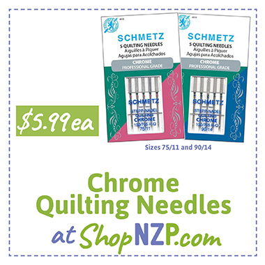 Chrome Quilting Needles at ShopNZP.com