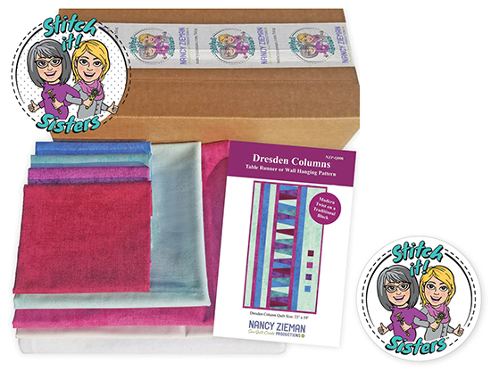 Stitch it! Sisters Dresden Columns Bundle Box Prize Giveaway at Nancy Zieman Productions Blog Celebrating Stitch it! Sisters' Season One Wrap Party