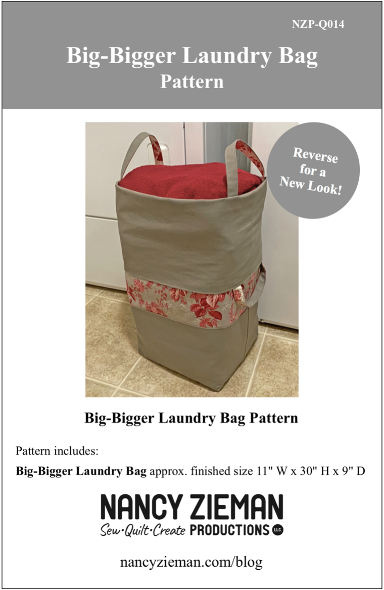 Big-Bigger Laundry Bag Sewing Tutorial at the Nancy Zieman Productions Blog Featuring Wildflower Boutique Fabrics by Riley Blake Designs