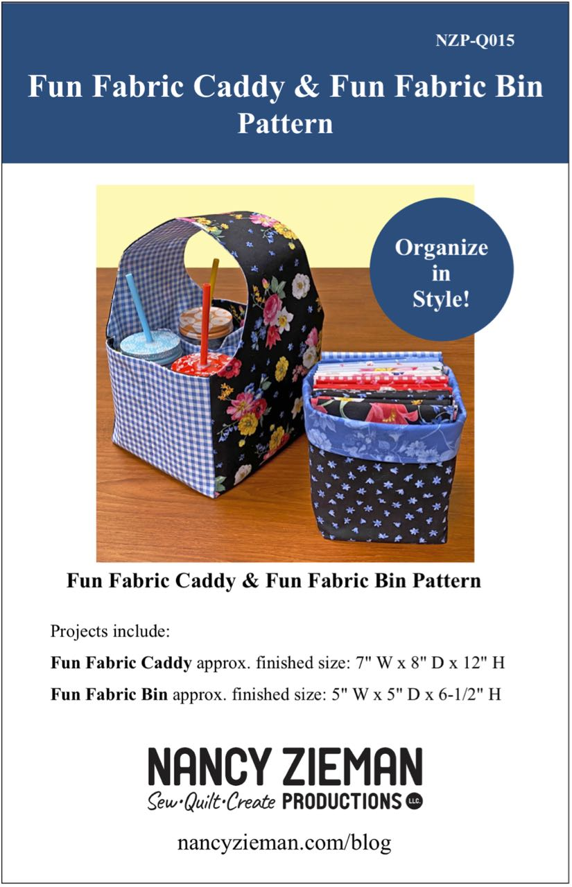 Fun Fabric Caddy Sewing Tutorial at the Nancy Zieman Productions Blog Featuring Wildflower Boutique Fabrics by Riley Blake Designs