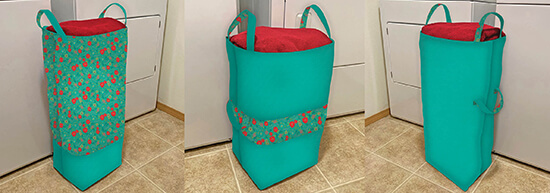 Big Bigger Laundry Bag Sewing Tutorial and NEW Boutique Wildflower Fabrics