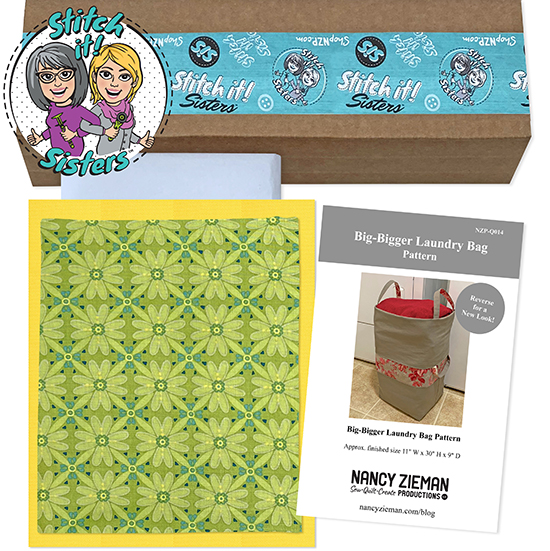 Green Mosaic Wildflower Boutique Big-Bigger Laundry Bag Bundle Box available at ShopNZP.com