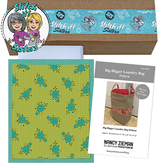 Green Wildflower Boutique Big-Bigger Laundry Bag Bundle Box available at ShopNZP.com