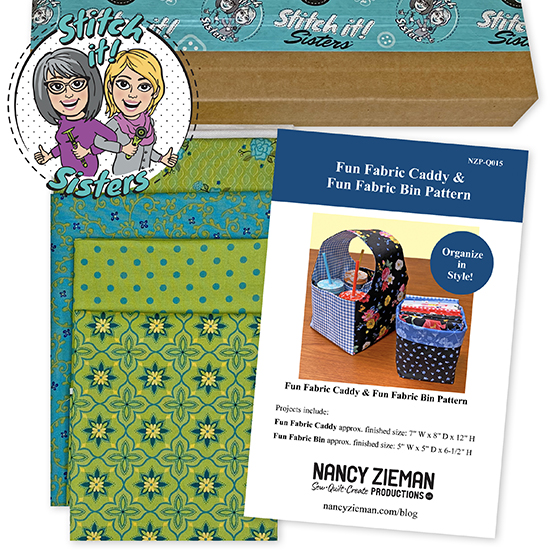 Green Wildflower Boutique Fun Fabric Caddy & Fun Fabric Bin Bundle Box available at ShopNZP.com