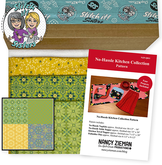 Green Wildflower Boutique No-Hassle Napkin and Table Topper Bundle Box at ShopNZP.com