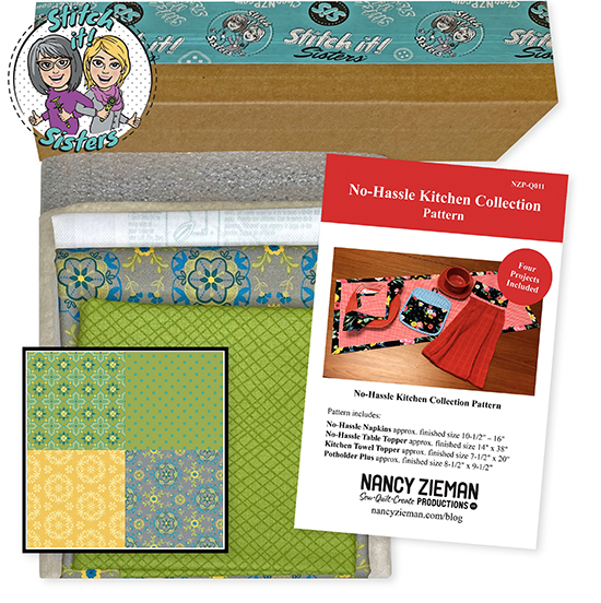 Green Wildflower Boutique No-Hassle Potholder Plus and Towel Topper Bundle Box available at ShopNZP.com