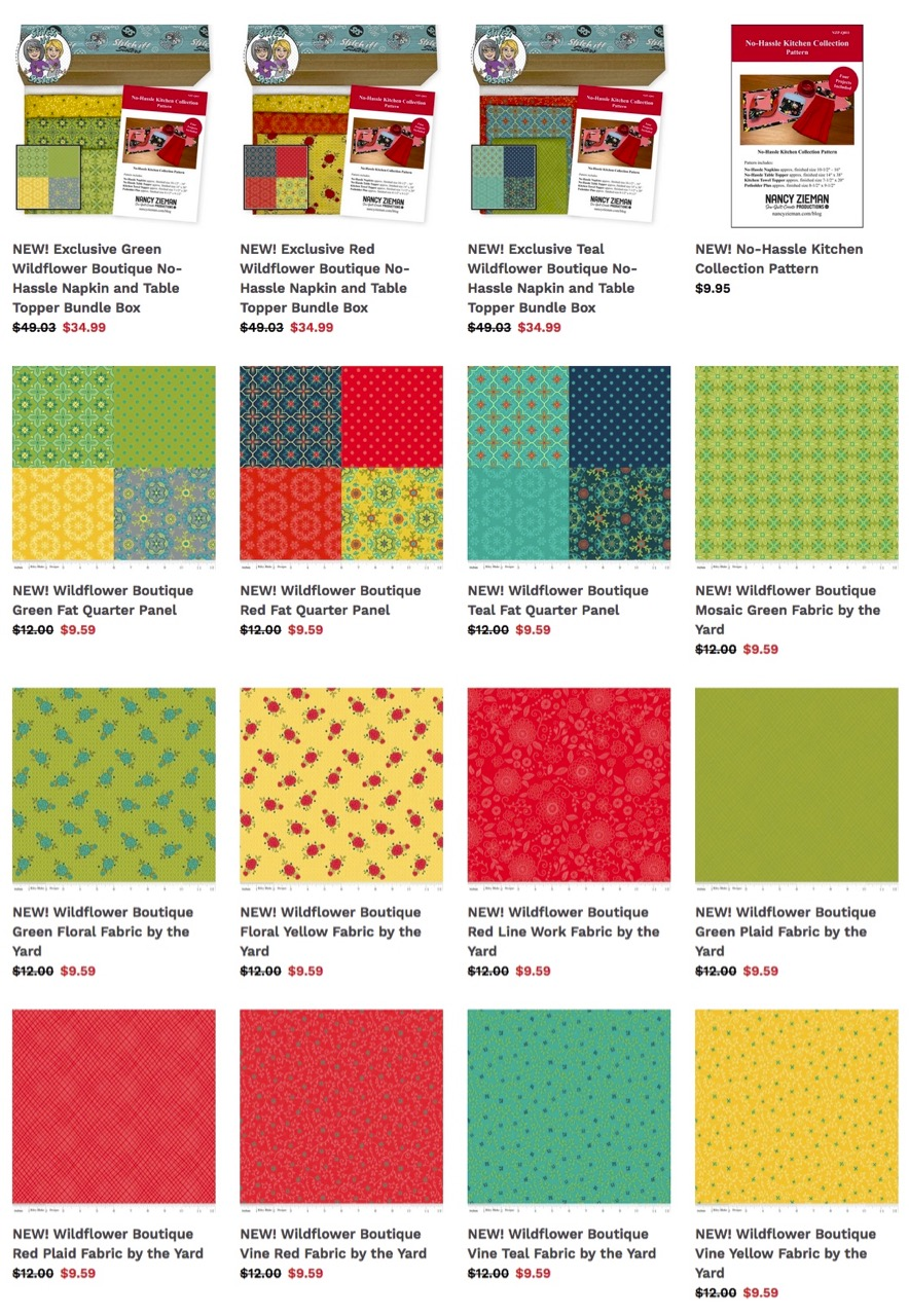 NEW! Wildflower Boutique Fabrics and Fat Quarter Panel Fabrics available at ShopNZP.com