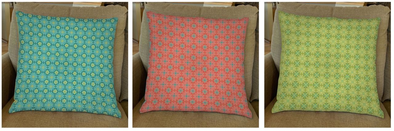 Palette Pillow Sewing Tutorial at the Nancy Zieman Productions Blog Featuring Wildflower Boutique Fabrics by Riley Blake Designs
